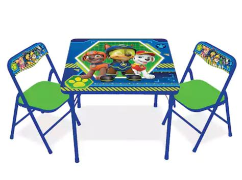 paw patrol table and chair set extreme couponing
