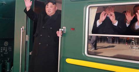 kim jong uns train journey  trump summit   nod