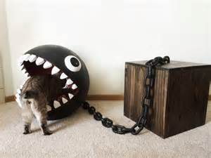 cool cat accessories unique cat bed in shape of chain chomp character chain