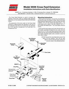 Ammco 6936 Cross Feed Extension User Manual