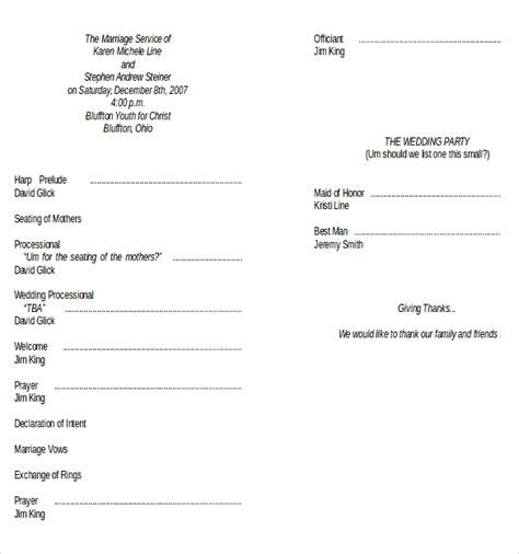 wedding program templates   word  psd