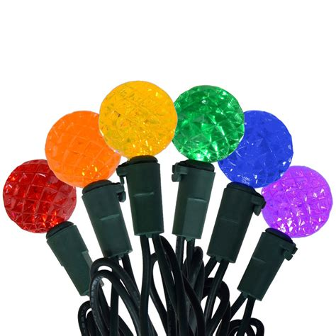 cut multi color led mini globe string lights