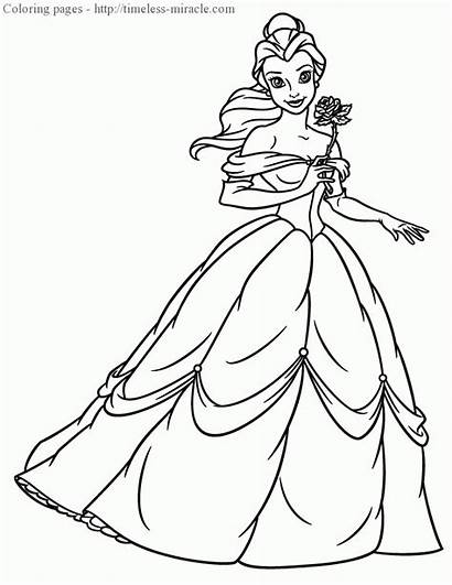 Coloring Princess Pages Belle Kitty Hello Prince