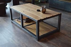 Table Industrielle Alinea : table basse industrielle alinea d coration d 39 int rieur table basse et meuble cuisine ~ Teatrodelosmanantiales.com Idées de Décoration