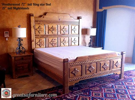 custom weathered wood style beds dressers night stands