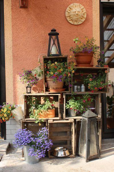 Weinkisten Garten by Blumenregal Aus Weinkisten Living Outdoor Living In