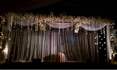 Stage Simple Flowers Decorations Topweddingsites Elegance Hanging