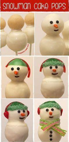 christmas cake pops ideas  pinterest snowman