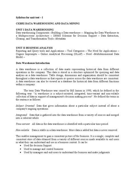 Data Warehouse Business Requirements Template by Data Warehouse Business Requirements Template 1
