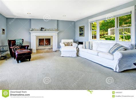 light blue couch living room light blue living room with white sofa and fireplace stock