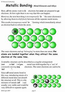 Metallic Bonding Worksheet - wiildcreative