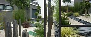 maison contemporaine son entree jardin co With faire une entree de maison