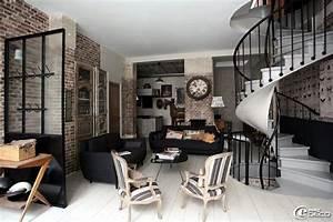 idee deco salon salle a manger cuisine With salle À manger contemporaine avec idée papier peint salon salle À manger