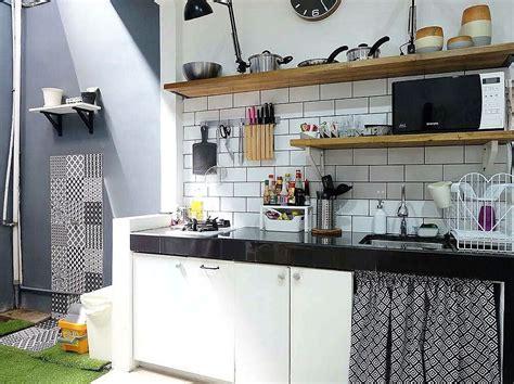 open kitchen cupboard ideas model motif keramik dapur sederhana sempit kecil dapur