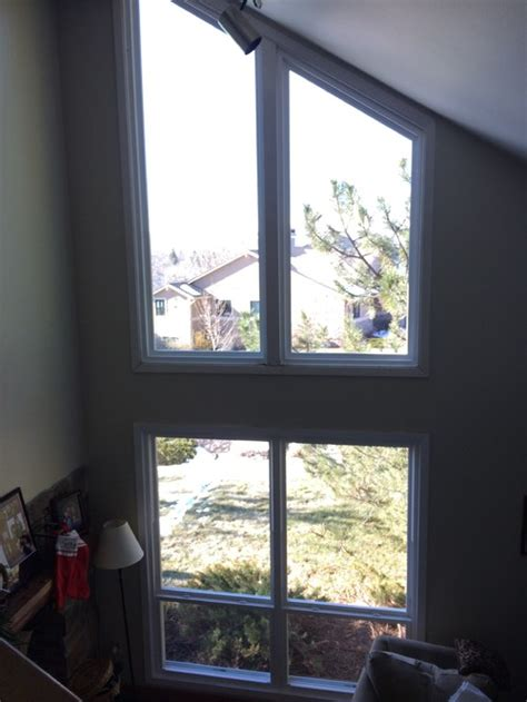 trapezoid window coverings   view   glaring sun