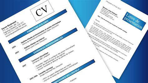 Modèle De Présentation De Cv by Resume Format Curriculum Vitae Et Lettre De Pr 233 Sentation