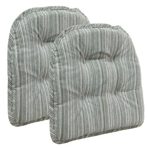the gripper chair cushion green textured stripe