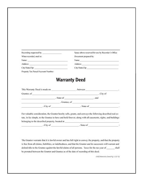texas property deed form warranty deed forms and instructions