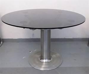 Italienischer Mid Century Couchtisch Aus Glas Und Stahl