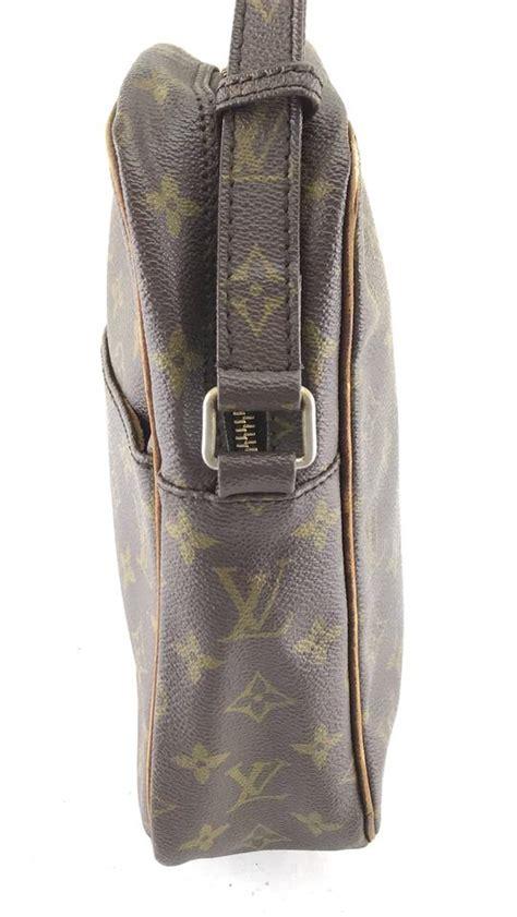 louis vuitton danube  vintage long adjustable strap monogram coated canvas shoulder bag