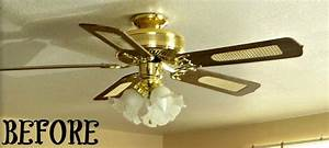Brass ceiling fan makeover fans and