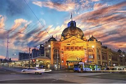 Melbourne Street Wallpapers Australia Tram Flinders Station