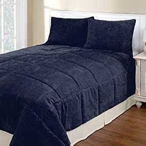 amazon com navy blue corduroy full queen 3 piece comforter set home kitchen
