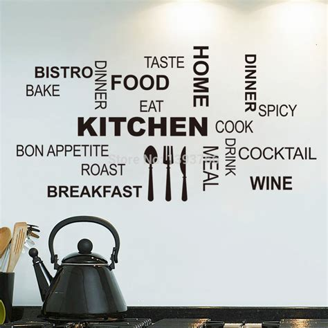 stickers cuisine design kitchen wall quotes food wall stickers diy vinyl