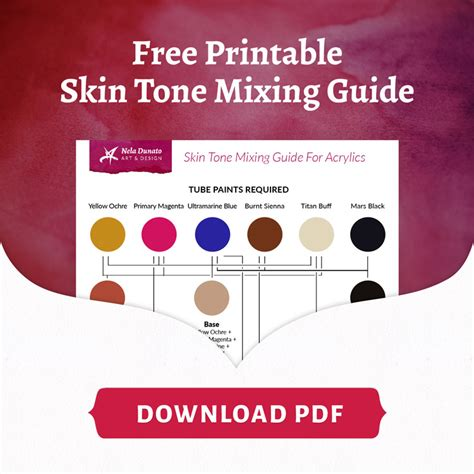 how i paint skin tones in acrylic free printable pdf