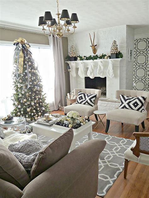 Simple christmas home decorating style. Christmas Living Room Decorations Ideas & Pictures
