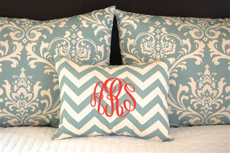 Monogrammed Coverlet by Standard Pillow Shams With Monogrammed Pillow Blue Bedding