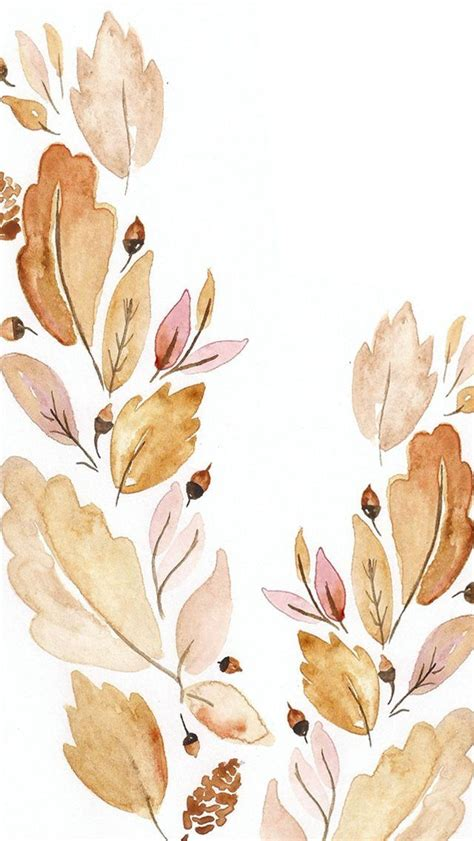 Autumn Wallpapers Watercolor by Pin By On Pretty Iphone Wallpaper Fall Fall