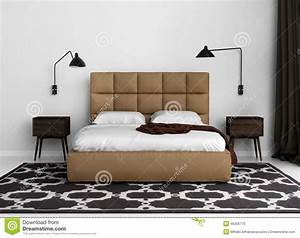 contemporary elegant luxury bedroom with leather bed stock With chambre a coucher contemporaine