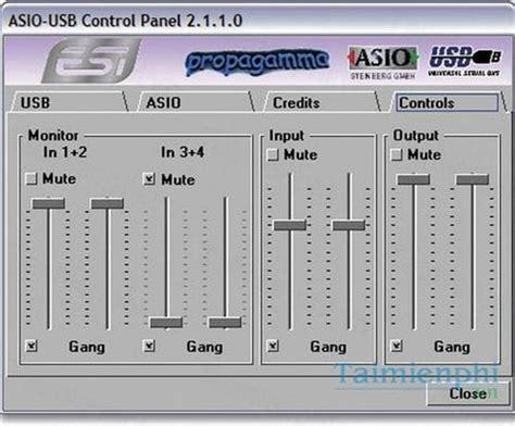 Download USB Audio ASIO Driver 2.8.45 - Driver cho kết nối