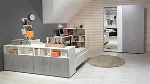 Möbel Und Schönes : jugendzimmer concrete schrank bett schreibtisch wei beton wellem bel ~ Sanjose-hotels-ca.com Haus und Dekorationen