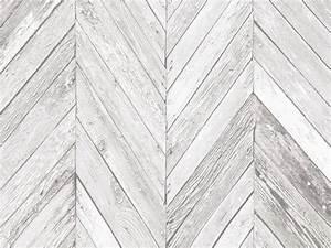 Planche De Bois Vieilli : papier peint 100 intiss motif planche de bois chevron vieilli gris tuck ~ Mglfilm.com Idées de Décoration