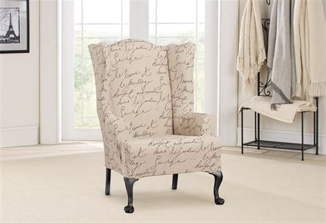 Wing Chairs Slipcovers by Stretch Pen Pal One Wing Chair Slipcover Surefit