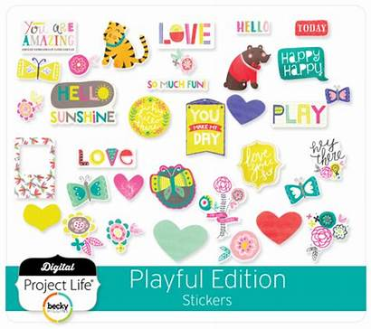Stickers Edition Playful Scrapbook Digital Project Elements