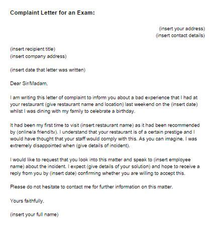 complaint letter email tips formal letter writing
