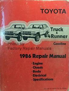 1986 Toyota Truck And 4runner Factory Service Manual