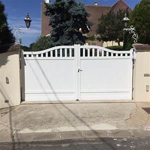 Portail 2 Battants : portail coulissant plain gris 7016 forge les bains portech ~ Melissatoandfro.com Idées de Décoration