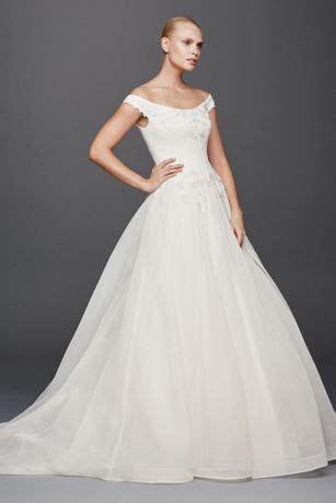zac posen   shoulder wedding dress davids