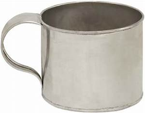 Tin cup, 12 ounce capacity - Track of the Wolf