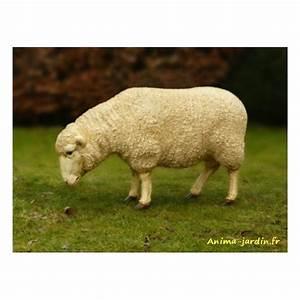 Statue De Jardin En Résine : mouton debout en r sine brebis t te basse animal de la ~ Dailycaller-alerts.com Idées de Décoration