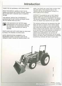 Used John Deere 440 Loader Operators Manual Issue E5