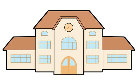 build a house free free to use domain school building clip