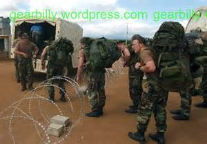 Special Forces Wearing Alice Pack
