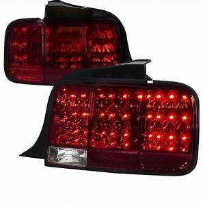 05-09 Ford Mustang LED Sequential Turn Signal LED Tail Lights - Red