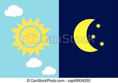 sole vettore giorno notte luna