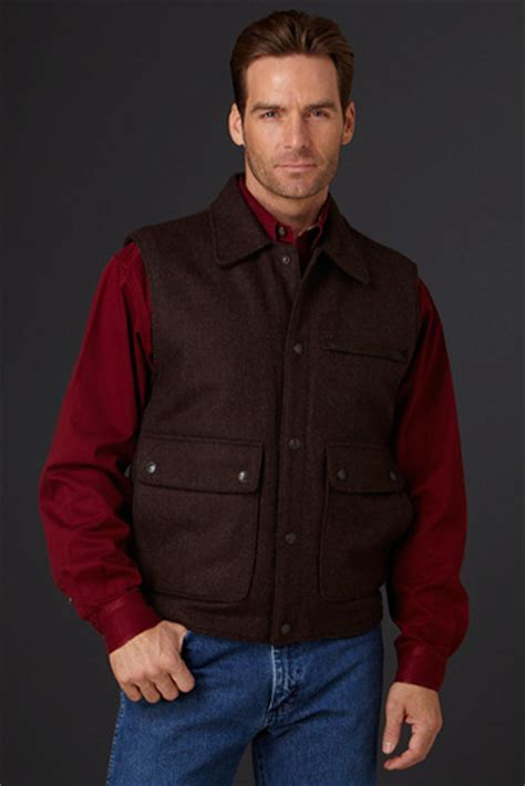 Cripple Creek Men's Collared Wool Work Vest